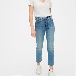 The Gap Straight Leg Exposed Button Jeans
